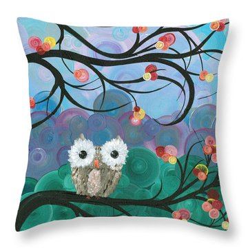 Owl Expressions - 03 Throw Pillow