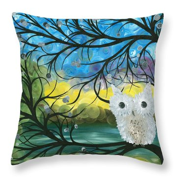 Owl Expressions 04 Throw Pillow