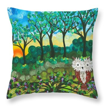 Owl Expressions 06 Throw Pillow