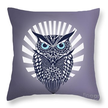 Owl Throw Pillow by Mark Ashkenazi