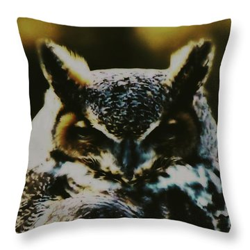 Owl Portrait Throw Pillow