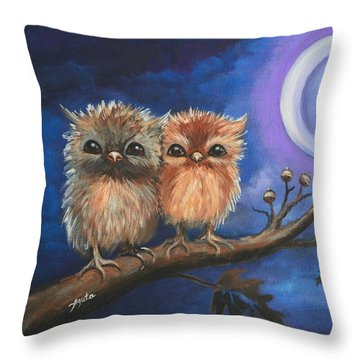 Owl Be There For You Throw Pillow