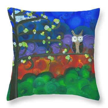 Owl Singles - 04 Throw Pillow