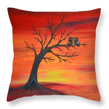 Owl Tell You Something Throw Pillow