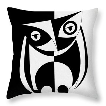 Own Abstract  Throw Pillow by Mark Ashkenazi
