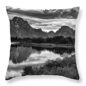 Oxbow Bend Dramatics Throw Pillow