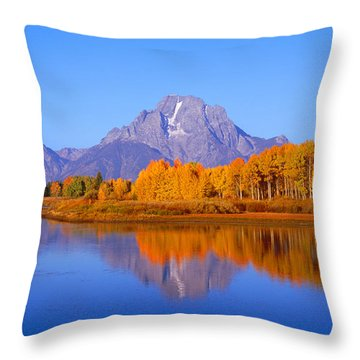 Oxbow Bend In Grand Teton Throw Pillow