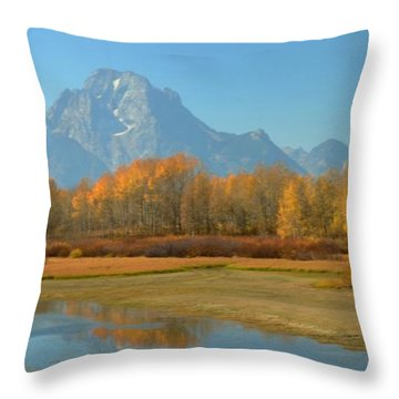 Oxbow Bend Throw Pillow by Kathleen Struckle