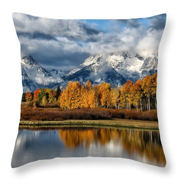 Oxbow Morning Throw Pillow