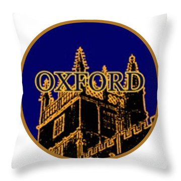 Oxford 1986 Art2579oa Jgibney The Museum Zazzle Gifts Throw Pillow by The MUSEUM Artist Series jGibney