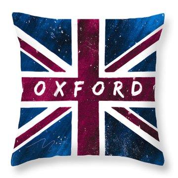 Oxford Distressed Union Jack Flag Throw Pillow by Mark E Tisdale