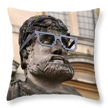 Throw Pillow featuring the photograph Oxford Geek by Rona Black