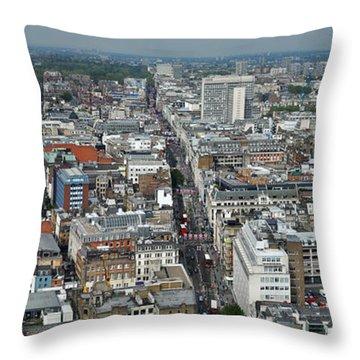Oxford Street Vertical Throw Pillow by Matt Malloy