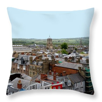 Oxford Town Throw Pillow by Joseph Yarbrough