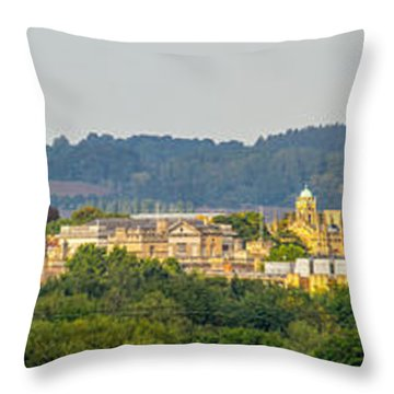 Oxford University Panorama Throw Pillow