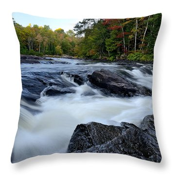 Oxtongue River Rapids Panoramic Throw Pillow