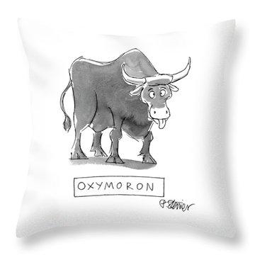 'oxymoron' Throw Pillow