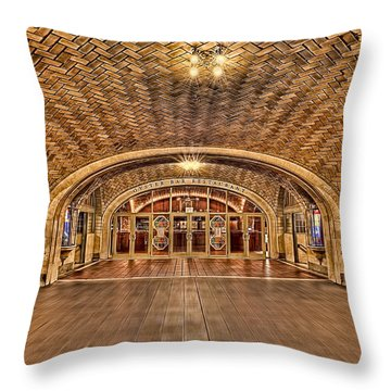 Oyster Bar Restaurant Throw Pillow