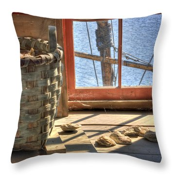 Oyster Basket Throw Pillow