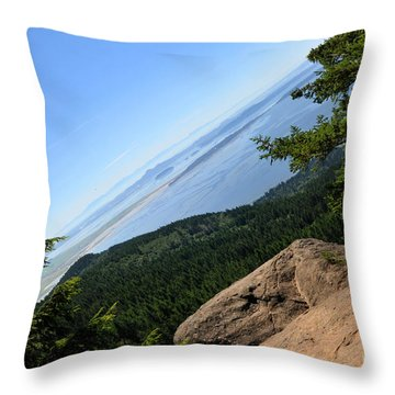 Throw Pillow featuring the photograph Oyster Dome by Rebecca Parker