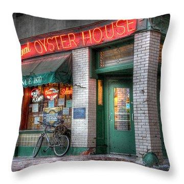 Oyster House Throw Pillow by Lori Deiter