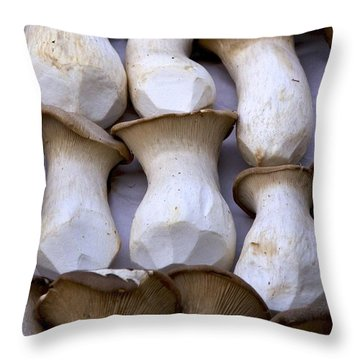 Oyster Mushrooms Throw Pillow by Colleen Williams