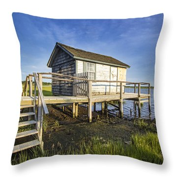 Oysterponds Creek Orient Ny Throw Pillow