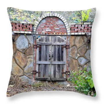 Ozark Gate Throw Pillow by Jan Amiss Photography