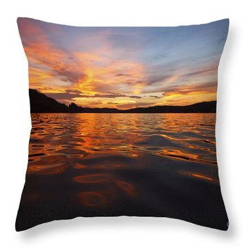 Ozark Sunset Throw Pillow by Dennis Hedberg