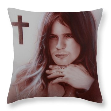 Ozzy Osbourne Throw Pillow