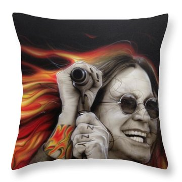 Ozzy's Fire Throw Pillow