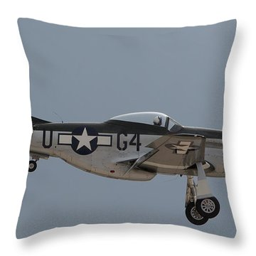 P-51 Landing Configuration Throw Pillow
