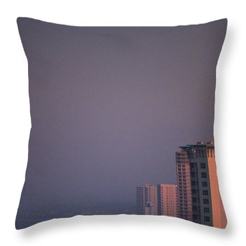 Panama City Beach In The Morning Mist Throw Pillow