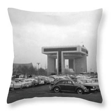 P O N Y A Building Throw Pillow