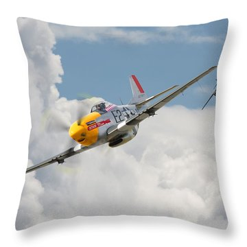P51 Mustang And Me 262 Throw Pillow