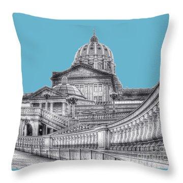 Pa Capitol Building Throw Pillow