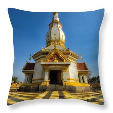Pa Dong Wai Temple  Throw Pillow by Adrian Evans