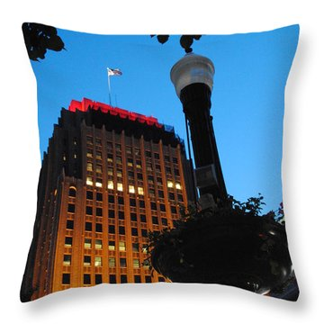 Pa Power Light And Allentown Symbol Throw Pillow