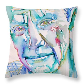 Pablo Picasso- Portrait Throw Pillow by Fabrizio Cassetta