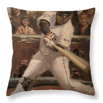 Pablo Sandoval Home Run Throw Pillow by Darren Kerr