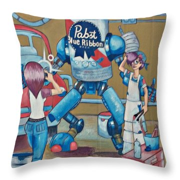 Pabst Mural In The Loop Throw Pillow