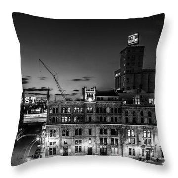 Pabst U-turn Monochrome Throw Pillow by Randy Scherkenbach