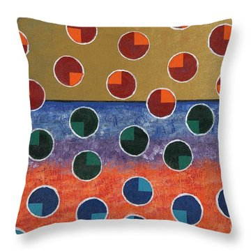 Pacman Zombies Awaking At Sun-rise Throw Pillow by Jeremy Aiyadurai