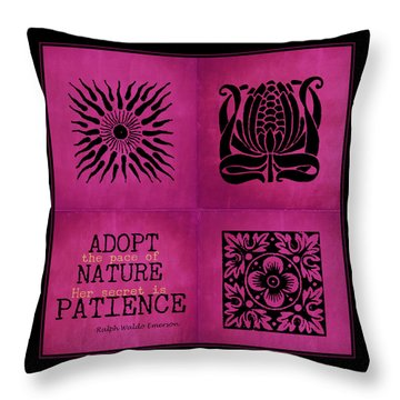 Pace Of Nature Throw Pillow by Bonnie Bruno