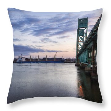 Pacific Basin Throw Pillow by Eric Gendron