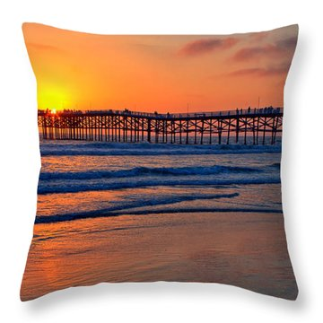 Pacific Beach Pier - Ex Lrg - Widescreen Throw Pillow