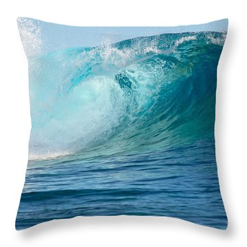 Pacific Big Wave Crashing Throw Pillow