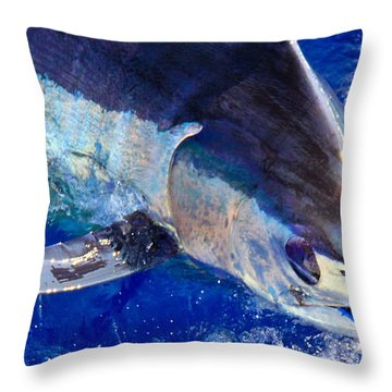 Pacific Blue Throw Pillow by Carol Lynne