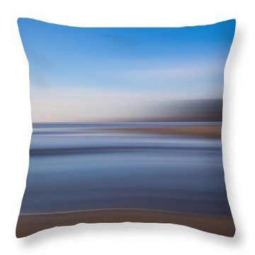 Pacific Coast Abstract Throw Pillow