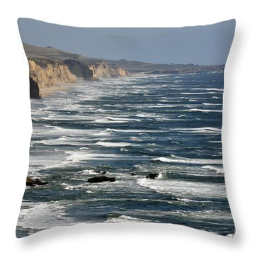 Pacific Coast - Image 001 Throw Pillow